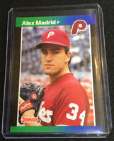 1989 Donruss Alex Madrid #604 Double Error Card RARE & HOT Find. Fresh Pull!