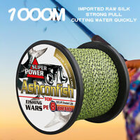 Ashconfish 6~300lb Fluorescent Green&Black Braided Fishing Line 100m 300m 1000m