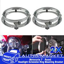 "2x 7"" Round LED Headlight Daymaker Mounting Bracket For Jeep Wrangler TJ Harley"