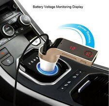 Wireless Bluetooth Car AUX Stereo Audio Receiver FM Adapter USB Charger A2DP DH
