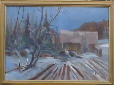 TAGE RUDOLF AHLM (SCHWEDEN *1920) ROMANTISCHER WINTERABEND -ÖLGEMÄLDE