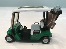 "Friction Drive Golf Cart With Golf Clubs Bag Die Cast 3 3/4"" Long"