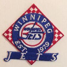 "Winnipeg Jets  EST 1979 Patch 3.1""x3.1""Inch .Sew  On / Iron On"