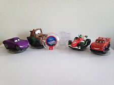 Disney Infinity 1.0 Cars Lightning McQueen Mater Holley Francesco Disc & Playset