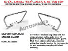"""ROYAL ENFIELD """"NEW CLASSIC & METEOR 350"""" SILVER TRAPEZIUM ENGINE GUARD"""