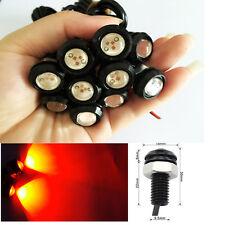 10 PCS RED 9W LED Eagle Eye Light Daytime Running DRL Tail Backup Car Motorcycle