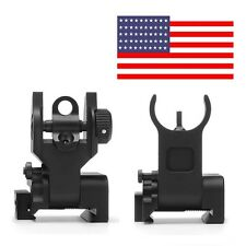 MST OPTIC Micro Low Profile Flip Up Rapid Transition Front + Rear Iron Sight Set