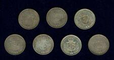 BRAZIL  PEDRO II 500 REIS SILVER COINS: 1854, 1855, 1856, 1857, 1859, 1865, 1866