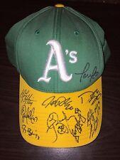 Oakland Athletics A's 2013 Team Signed Baseball cap Sonny Gray Josh Donaldson