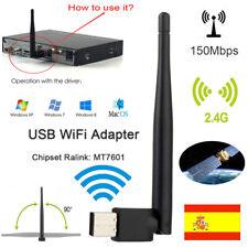 Adaptador WIFI USB 2.4G Antena de receptor de red inalámbrica 150Mbps 802bgn