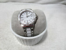 TAG HEUER FORMULA 1 LADY CERAMIC & STEEL QUARTZ WATCH WAH1213 diamonds