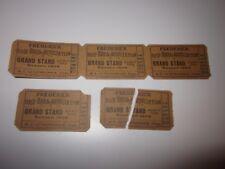 1908 Frederick Base Ball Association Baseball Tickets Lot of 5!