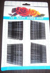 144 Haarklammern Haarnadeln Haarklemmen schwarz ca. 4,5cm lang