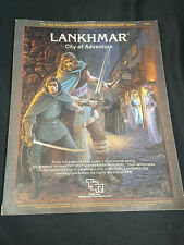 Vintage Lankhmar Advanced D&D Book 1985 With Giant Map