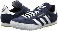 Mens Adidas Originals Samba Super Trainers Suede Casual Shoes Navy UK Size 7-12