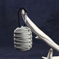 Paracord Flint Keychain HK style Hook Whistle Side Release Buckle SurvivorCord