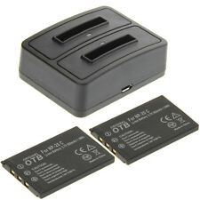 Duo Ladegerät + 2 Akkus Typ Casio NP-20 Ladestation Accu Battery Ersatzakku