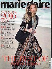 Marie Claire 2016 1 gennaio#Natasa Vojnovic,Aleksandr Sokurov,Kiki Smith,qqq