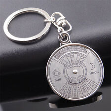 Unique Metal 50 Years Perpetual Calendar Keyring Keychain Key Chain Ring Gift