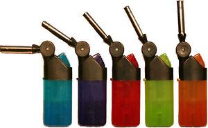 5x Mini Stabfeuerzeug Mini Gas Feuerzeug Sturmfeuerzeug - leicht nachfüllbar