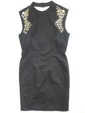 Tahari Women's Black Cocktail Dress jeweled Sequin Stretch Size Petite 6 NWOT  6