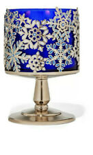 Bath & Body Works Jeweled Snowflakes Pedestal 3 Wick Candle Holder Stand