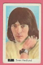 1960s Swedish Pop Star Card #7 Sven Hedlund With Beatles Sectional Back