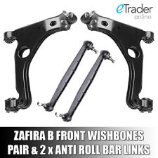 VAUXHALL ZAFIRA B WISHBONES ARMS X2 INC DROP LINKS Inc OPEL ARM PAIR FRONT