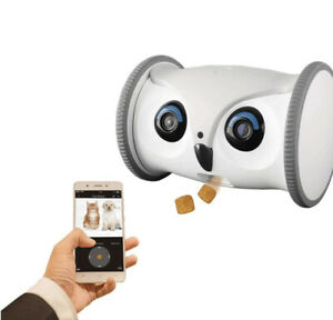 SKYMEE Owl Robot: Mobile HD Pet Camera with Treat Dispenser Interactive Open Box