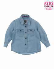 Fred Mello Denim Shirt Size 12M / 76Cm Boucle Dot Pattern