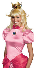 Princess Peach Mario Female Adults Blonde Wig Wispy Hair Halloween Disguise