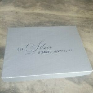 OUR SILVER WEDDING ANNIVERSARY GUEST BOOK  C.R. GIBSON NEW IN BOX