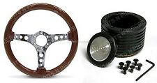 NISSAN PATROL SAAS WOOD GRAN STEERING WHEEL AND BOSS Kit COMBO