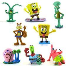 Set of 8 Spongebob SquarePants figures Patrick Bob & His friends, cake topper