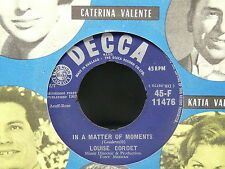 LOUISE CORDET In a matter of moments / I'm just a baby 45F11476 JUKE BOX PROMO