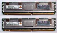 2x HP Original 1Gb PC2-5300F DDR2 SDRAM DIMM ECC HP DL360 G6 DL380 G5 398706-051