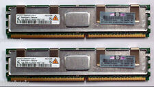 2x HP Original 1Gb PC2-5300F DDR2 SDRAM DIMM ECC HP DL360 G6 DL380 G5 398706-051