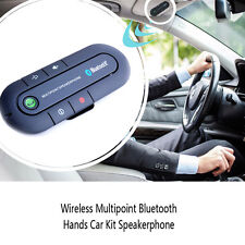 Wireless Multipoint Bluetooth Black Car Kit Speaker phone Speaker Visor Clip CN