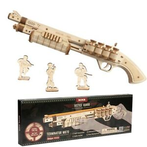 ROKR Wooden Toy Shotgun 3D Model Puzzle Building Diy Kit UGears Kids Teens Gift