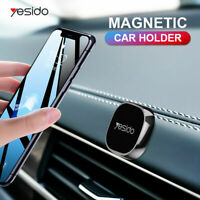 Black Mini Strip Shape Magnetic Car Phone Holder Stand For iPhone Magnet Mount