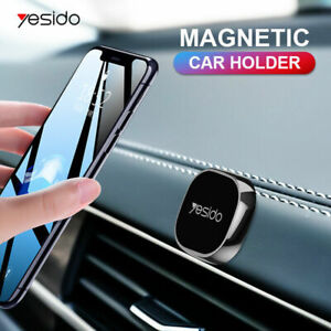 Black Mini Strip Shape Magnetic Car Phone Holder Stand For iPhone Magnet Mount