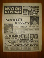 NME #953 1965 APR 16 SHIRLEY BASSEY KINKS YARDBIRDS