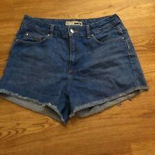 Topshop blue denim shorts size W30 inchs