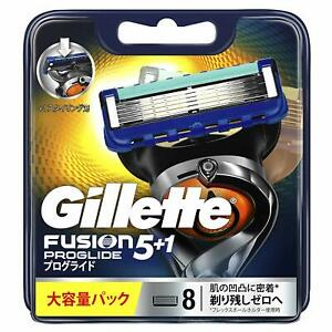 Gillette Japan Fusion Safety Razor Blade Proglide Flexball Manual 8 Cartridges