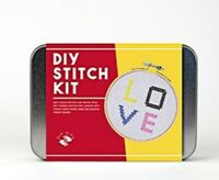 DIY Cross Stitch Set in a tin Threads Kit Craft sewing starter kit novelty gift