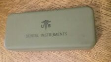 Dental supplies: Military: US Dental Instruments Case- Military Collector