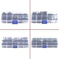 250Pcs Plastic Nylon M2 M3 Hex Column Standoff Spacer Screw Nut Assortment Kit