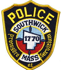 SOUTHWICK MASSACHUSETTS MA Sheriff Police Patch CITY LOGO OUTLINE ~