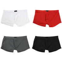 Men Boy Ice Silk Breathable Underwear Boxer Briefs Shorts Bulge Pouch Underpants
