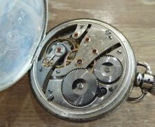 Gents Pocket Watch C1926. Working Waltham Riverside Antique Solid Silver